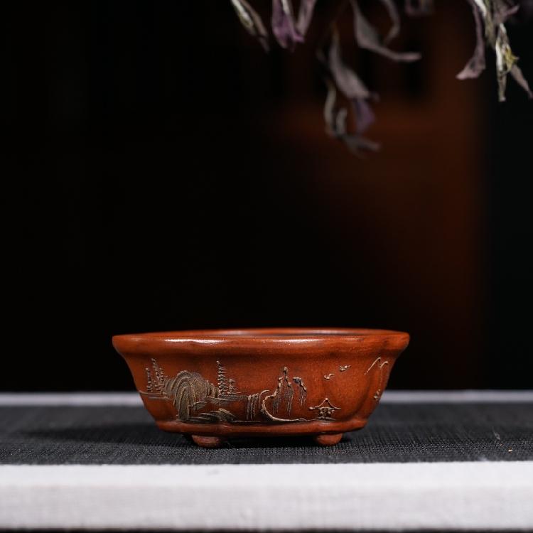 Đầu chậu cát màu tím, Cộng hòa Trung Quốc, tất cả các bộ sưu tập đồ cổ thủ công, thịt nhỏ nồi nhỏ, đặc biệt cung cấp