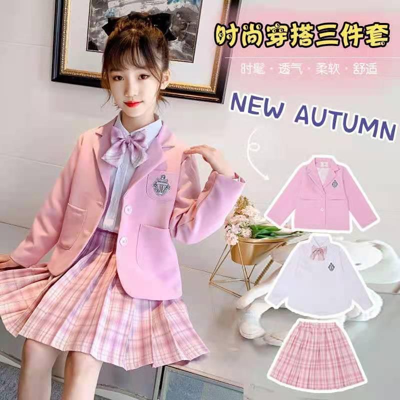 女童秋装连衣裙2021新款洋气网红11岁儿童长袖衬衣公主裙子潮服