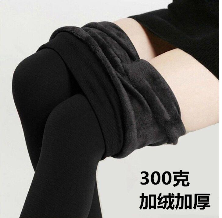 Mùa đông cao eo mặc siêu dày đầy màu sắc quần cotton cộng với nhung dày xà cạp phụ nữ ấm chặt chẽ kích thước lớn một mảnh quần