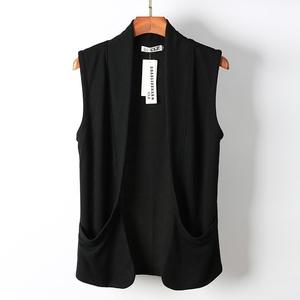 Mùa xuân và mùa hè của nam giới xu hướng vest vest Hàn Quốc phiên bản của tự trồng không tay đan cardigan mỏng vest vest áo khoác cá tính