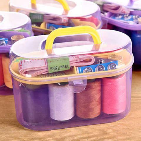 针线盒套装家用便携式缝纫针线收纳针线包