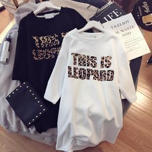 【高含棉】2019新款女装潮流短袖字母