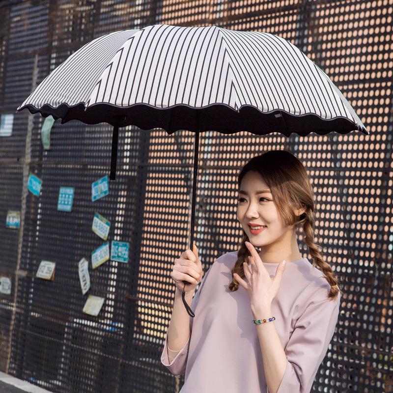 晴雨两用伞小巧清新遮阳挡雨价格/报价_券后26.1元包邮