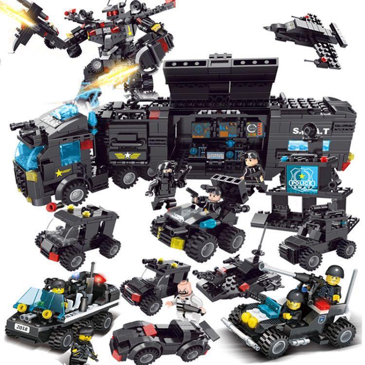 兼容legao积木男孩♀益智动脑小颗粒拼装玩具7儿童汽车模型我的世界