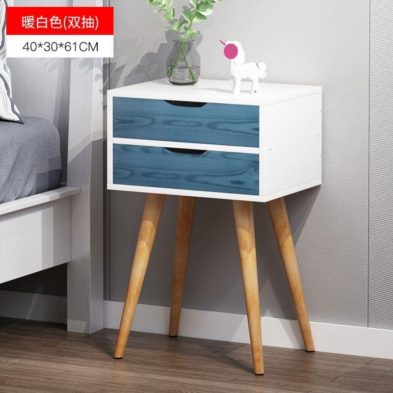 超窄北欧风床头柜空隙靠墙经济型角柜简易床家庭家具婚房房间方桌