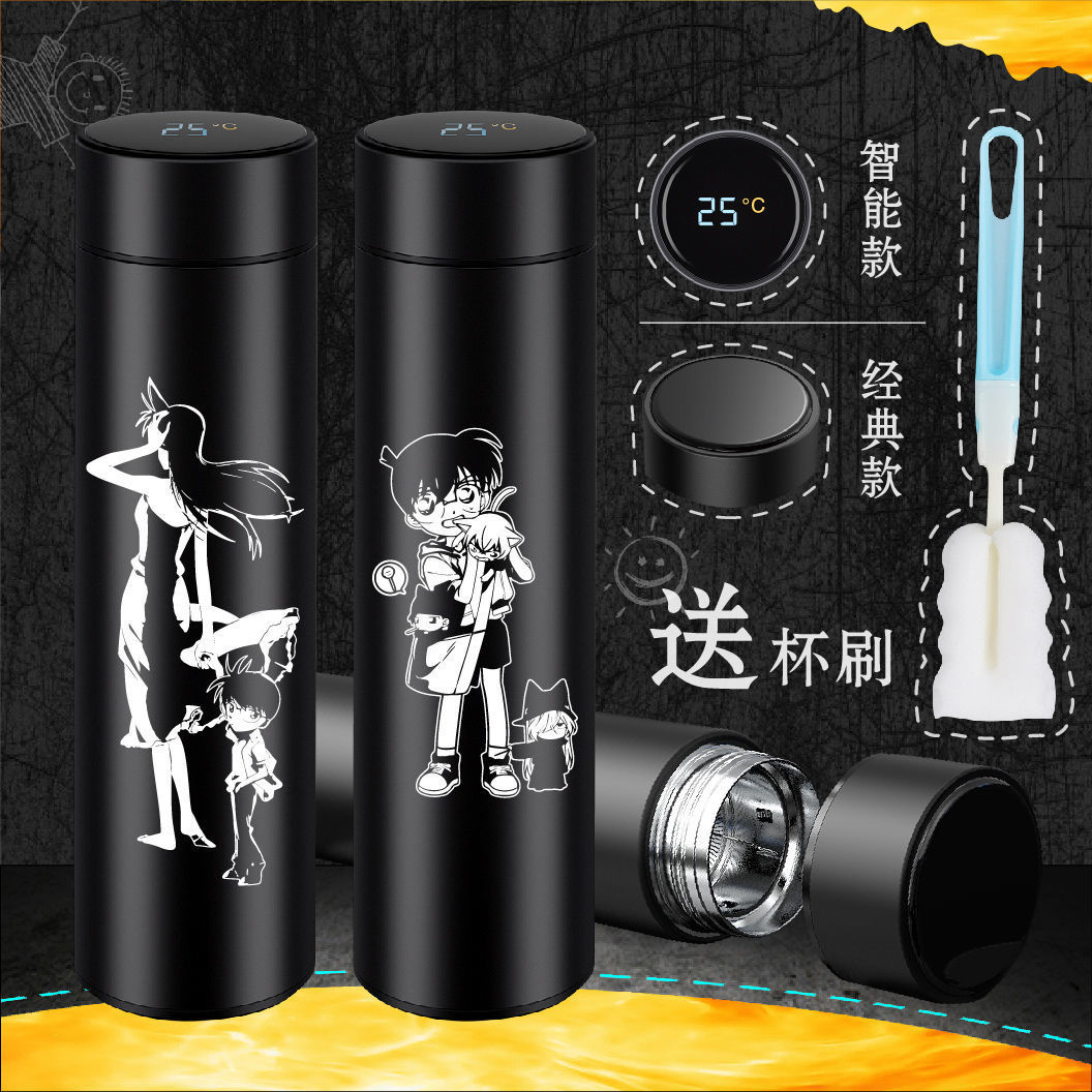 ! Cartoon Detective Conan magic quick fight outlaw Kidd maolilan stainless steel thermos cup