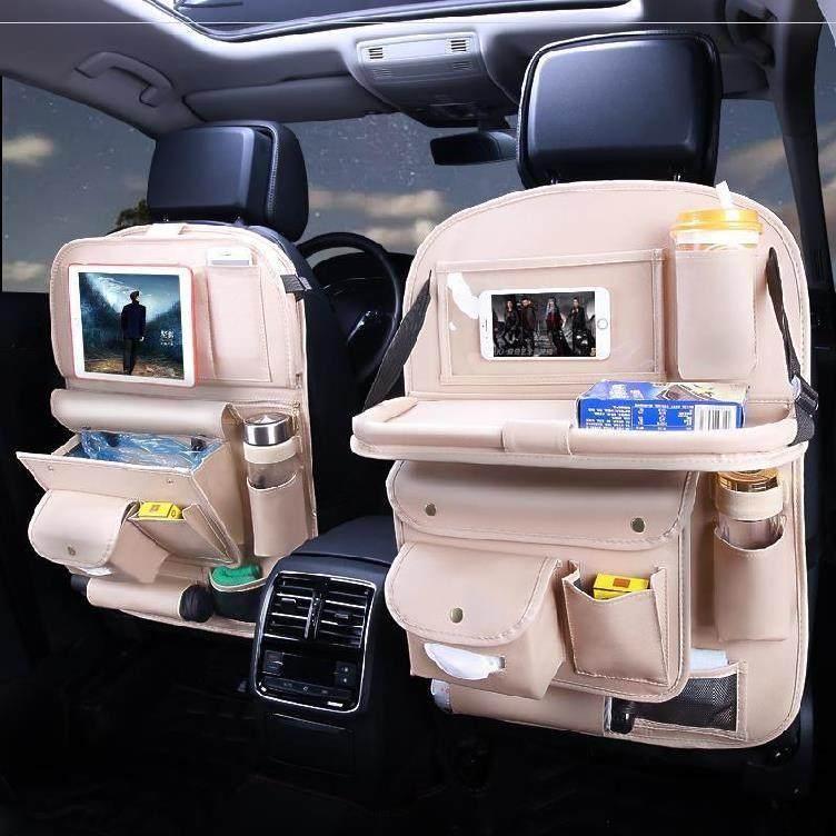 座椅靠背收纳袋汽车整理箱挂袋储物盒防脏背挂大容量悬挂式杂物。