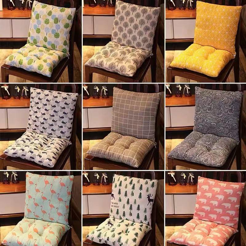 连体坐垫女教室椅子椅垫办公■室座垫靠垫∮坐垫一体加厚学生屁股b