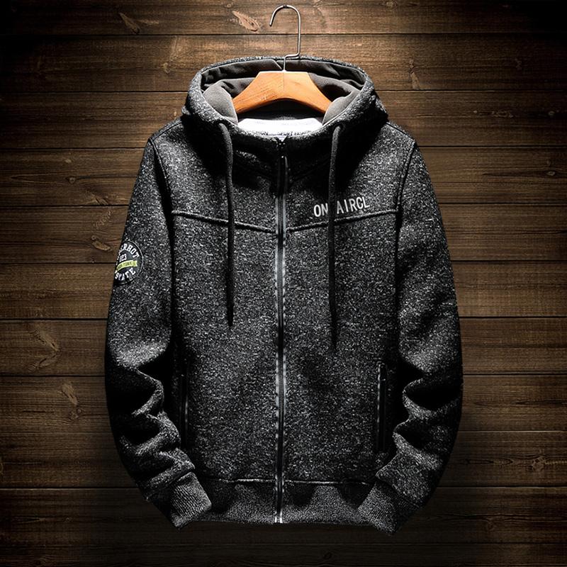 2018冬季初中学生男士青少年卫衣连帽韩版加绒加厚外套潮流保暖衣