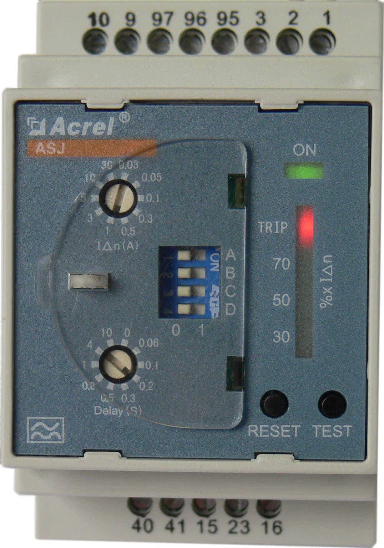 安科瑞ASJ10-LD1C剩余电流继电器