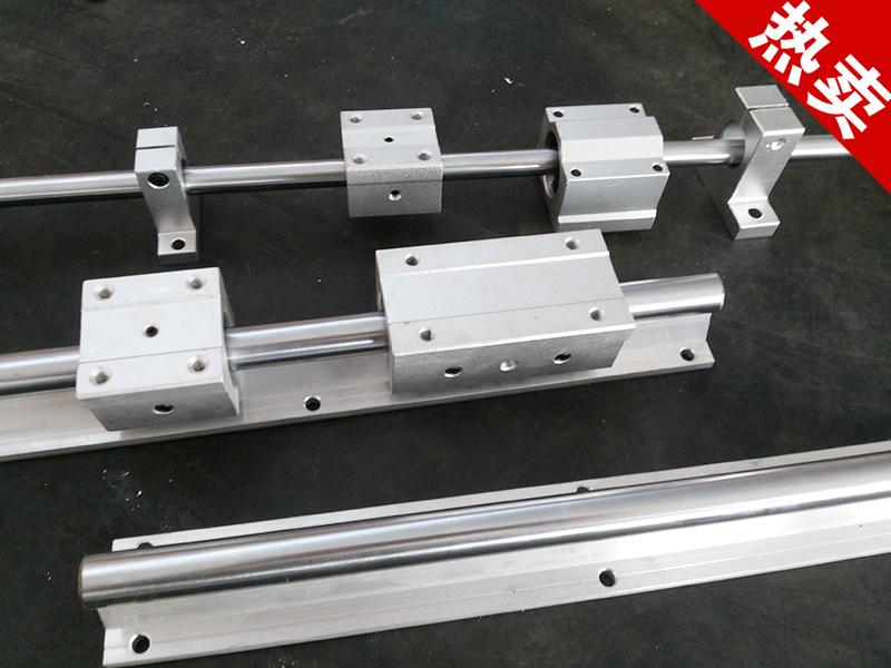 镀铬光杆直线光轴硬轴导轨单元滑块/支座/立式支架支撑座加工