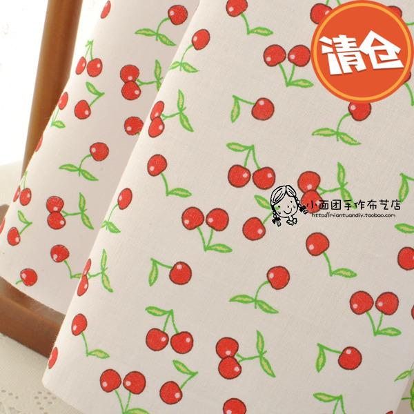 Bông vải cotton vải cherry phim hoạt hình bé vải handmade TỰ LÀM quần áo trẻ em quần áo vải C