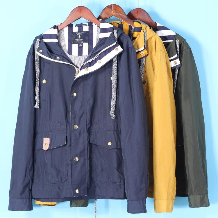 甩 包邮 quần áo của nam giới Jie loạt mùa xuân sản phẩm mới dây kéo trùm đầu thủy triều giản dị áo gió áo khoác ngắn 2111