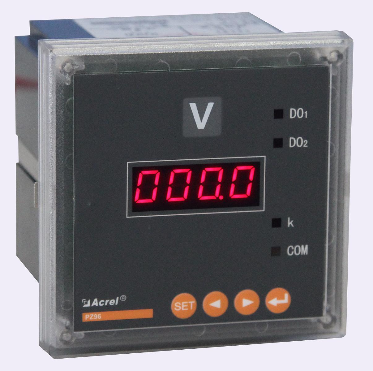 安科瑞厂家直销 PZ96-AV/C 单相电压表 数码管显示 带RS485通讯