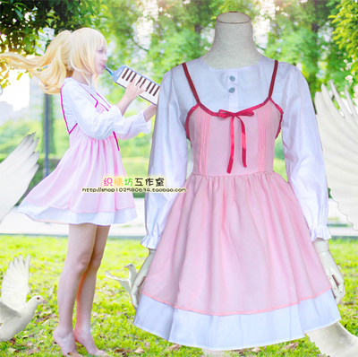 taobao agent Soft girl cute cosplay costume anime Your Lie in April Kaoru Miyazono Campus Style Daily Clothes