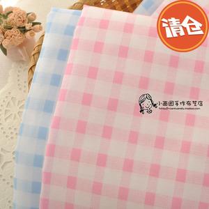 Nhỏ tươi hồng sky blue kẻ sọc vải bông vải cotton DIY handmade quần áo trẻ em quần áo vải C