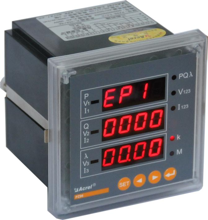 安科瑞厂家直销 PZ72-E4、PZ72-E3 多功能电能表 数码管显示