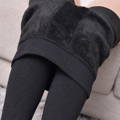 2016 Autumn And Winter Additional Cashmere Thicker High Waist Leggings Trousers