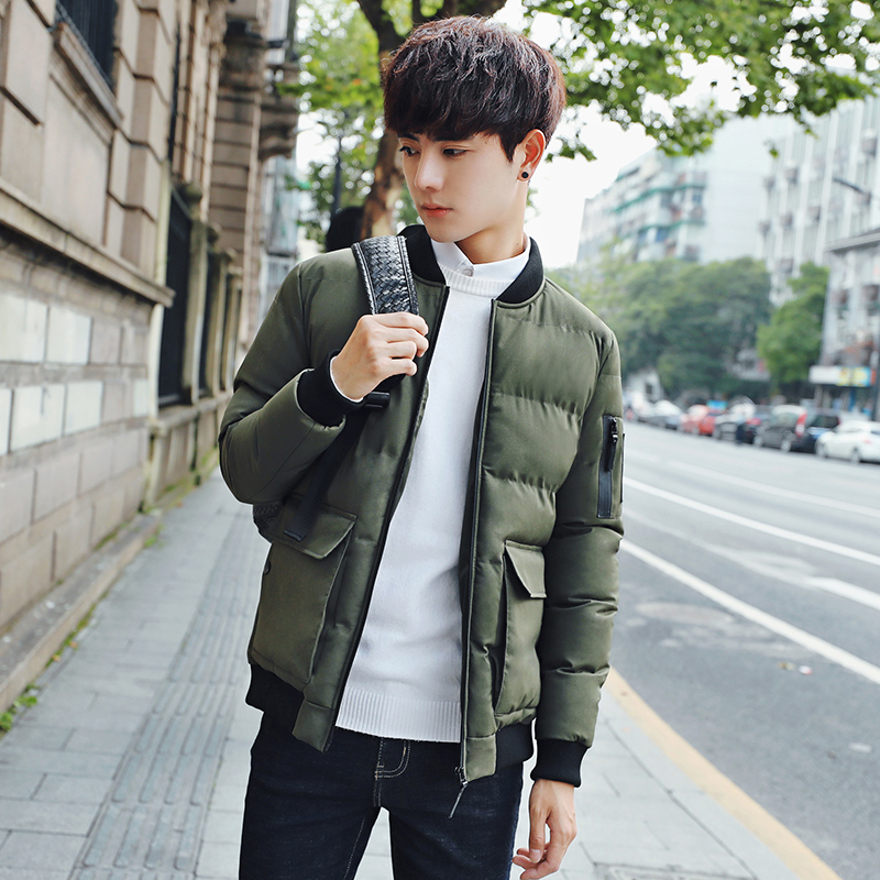 新款冬天棉服男装冬季棉衣冬装外套男韩版修身棒球棉袄上衣男装