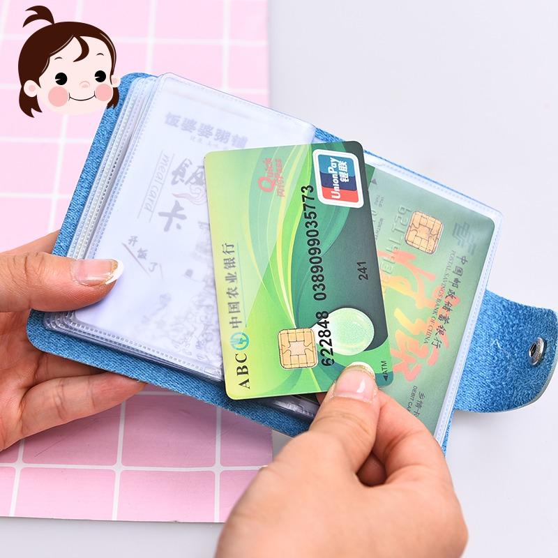 Thời trang kẹo thẻ màu gói sáng tạo người đàn ông tươi và phụ nữ lái xe giấy phép siêu mỏng đa thẻ dung lượng lớn thẻ xách tay túi