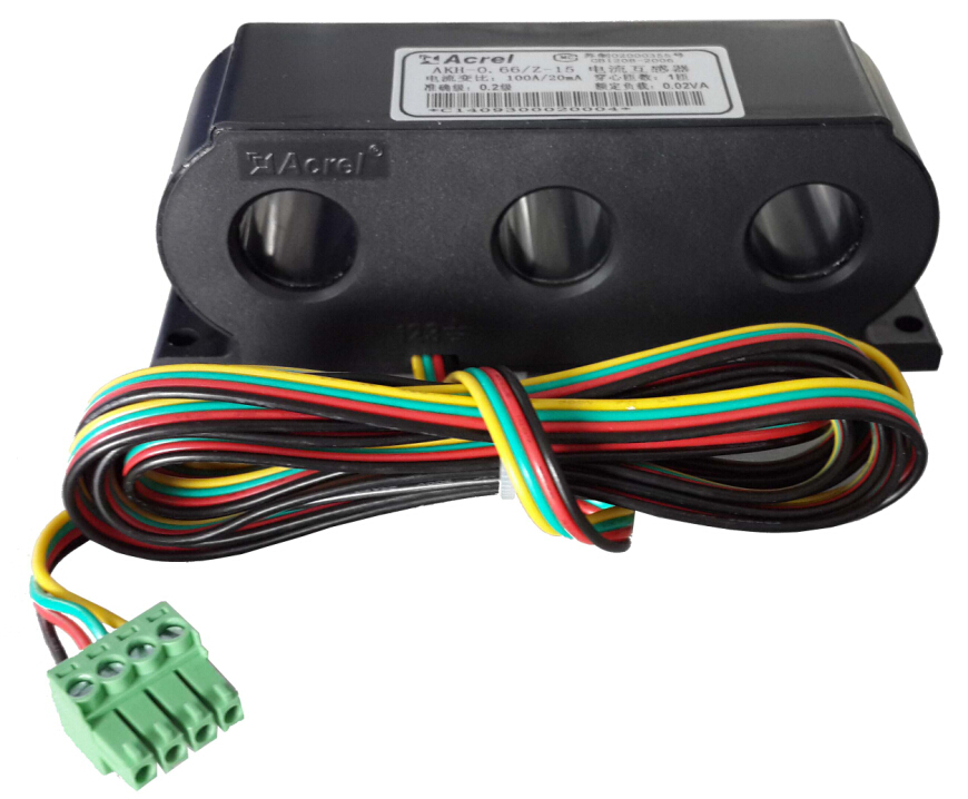 安科瑞厂家AKH-0.66/Z 3*Φ15 100/20mA 三相电流互感器 一体式