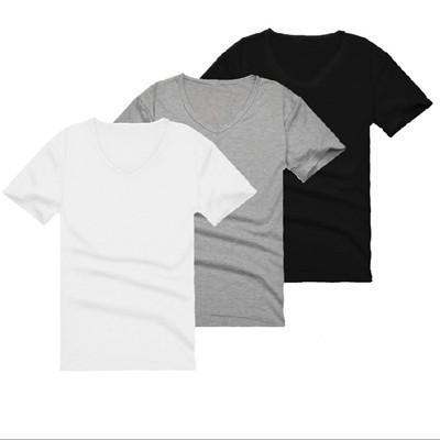 Nửa tay áo trai tinh khiết màu tinh khiết trắng Hàn Quốc xu hướng quần áo T-Shirt mùa hè t-shirt 桖 sinh viên hoang dã Slim ngắn tay áo