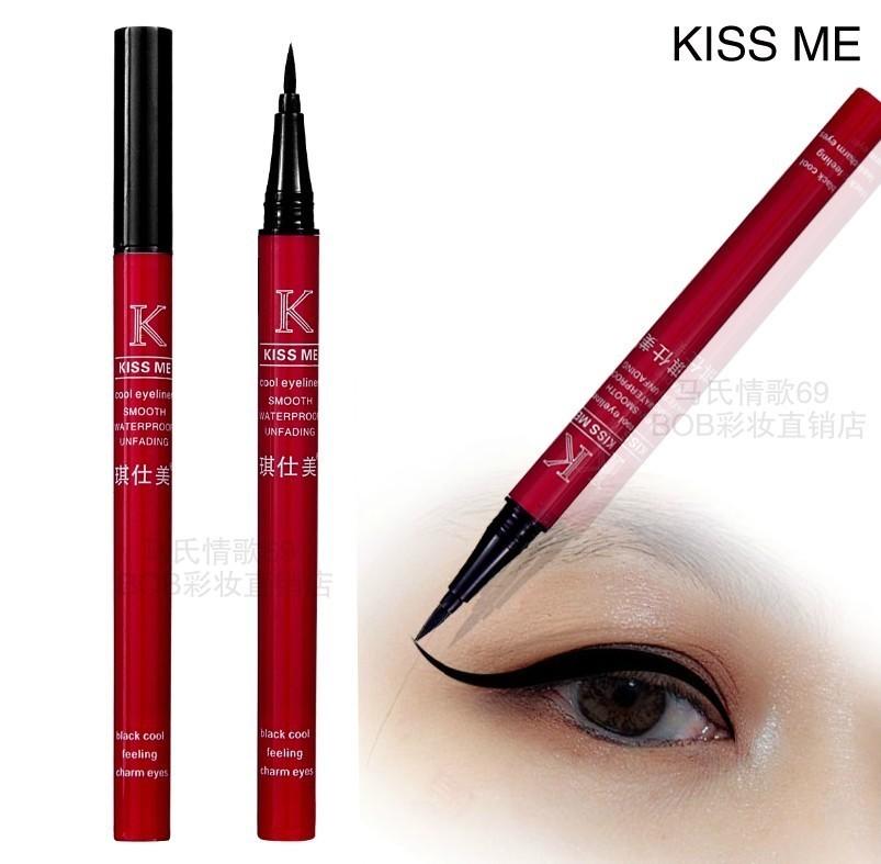 Sản phẩm mới 包邮 chính hãng bút kẻ mắt màu đen bút bút kẻ mắt không thấm nước và mồ hôi-proof lâu dài không nở bút kẻ mắt