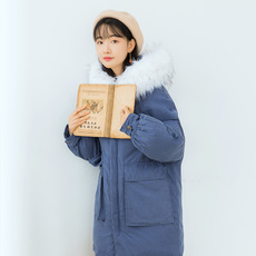 【6471#不低于199】韩版学生加厚毛领面包服棉衣棉服外套棉袄