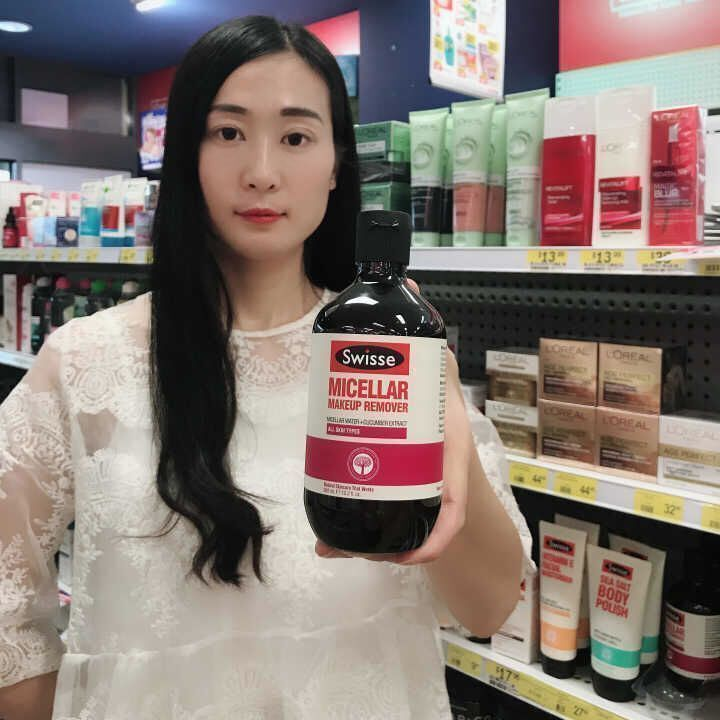 [乳牛 妈咪] Úc Swisse làm sạch dầu 300ml nước suối nóng dưa chuột dưa chuột phụ nữ mang thai có sẵn
