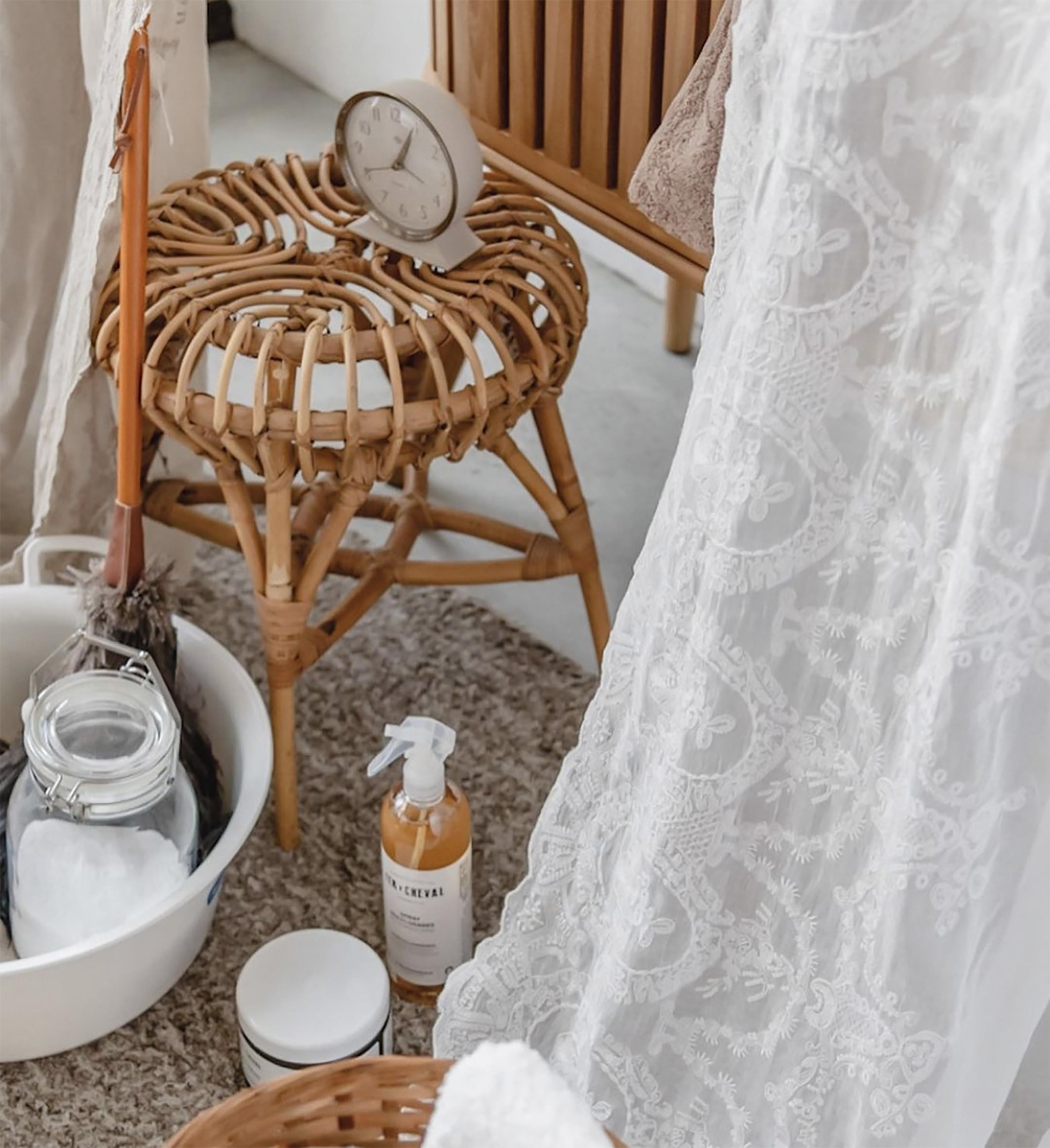 久伴INS北欧藤编凳餐厅客厅民宿咖啡馆茶几凳子换鞋凳餐桌椅凳子_图3