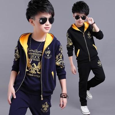 童装男童秋装套装新款儿童运动三件套男孩衣服春秋款潮衣