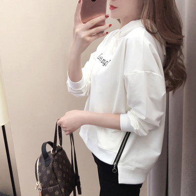 e1114bc09f5 Add to Cart. 2017 spring hooded sweater female Korean version of the tide  student loose wild bf wind-