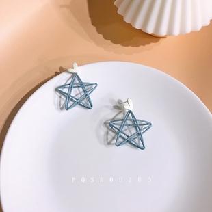 小眾設計感五角星耳環簡約冷淡風