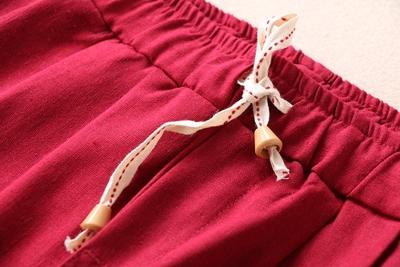 Đa màu sắc mùa xuân văn học quần âu mỏng phần bông chín quần quần quần a902-899