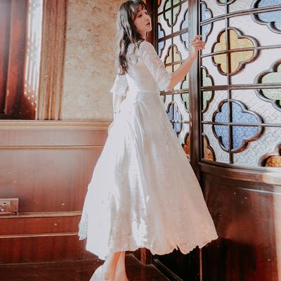 新款女装多利亚法式复古裙法国小众连衣裙海边度假沙滩仙女裙