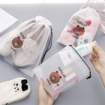 防水收纳袋旅行袋束口抽绳鞋子行李袋小布袋待产包透明分装收纳包