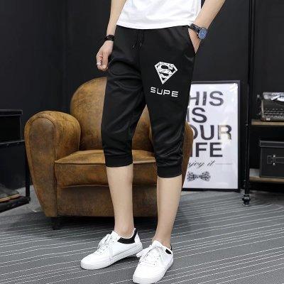 Mùa hè màu đen giản dị cắt quần nam Hàn Quốc phiên bản của tự trồng 7 năm quần phần mỏng quần thủy triều nam ống túm sinh viên quần 3/4 Jeans