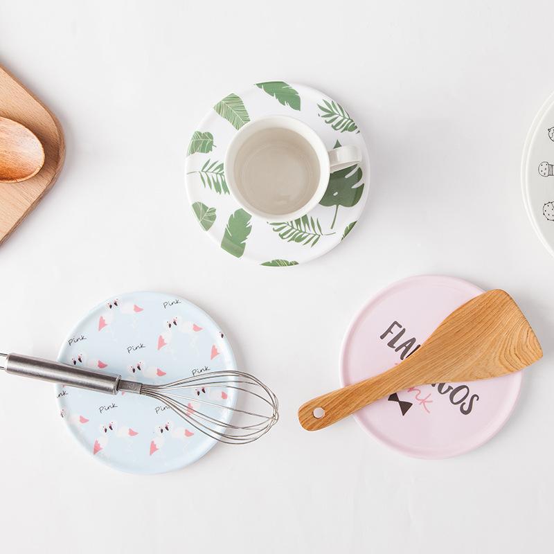 欧式仿瓷家用厨房耐热隔热垫E822瓷锅垫餐垫盘子垫碗垫杯垫小碟子