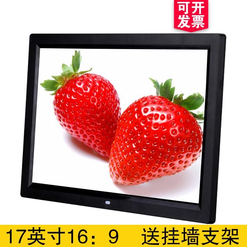 17 дюймовый hd цифровой фоторамка реклама машинально HDMI видео игрок узкий электронный фоторамка 1080P бесплатная доставка