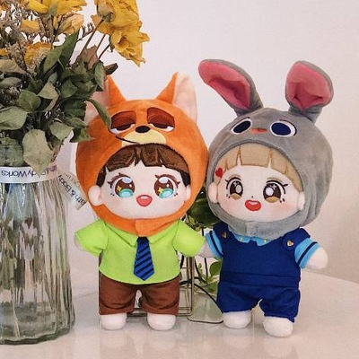 42agent 15cm and 20cm three-piece nick and judy cute set exo dolls [year after the hair - Taobao