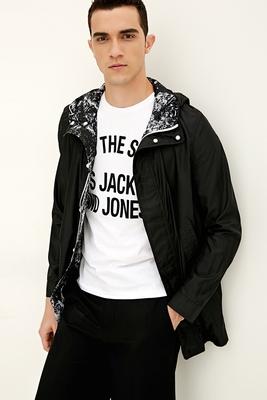 JackJones Jack Jones lỏng ánh sáng trùm đầu đứng cổ áo rãnh áo S   217121555