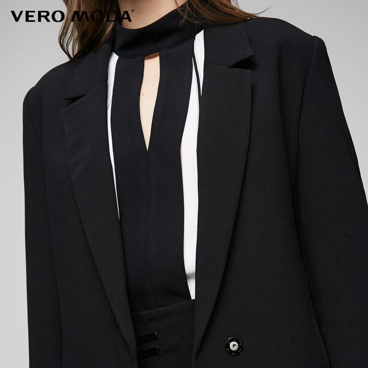 Vero Moda mới vành đai cá tính đi lại phù hợp với áo gió | 317121523 Trench Coat
