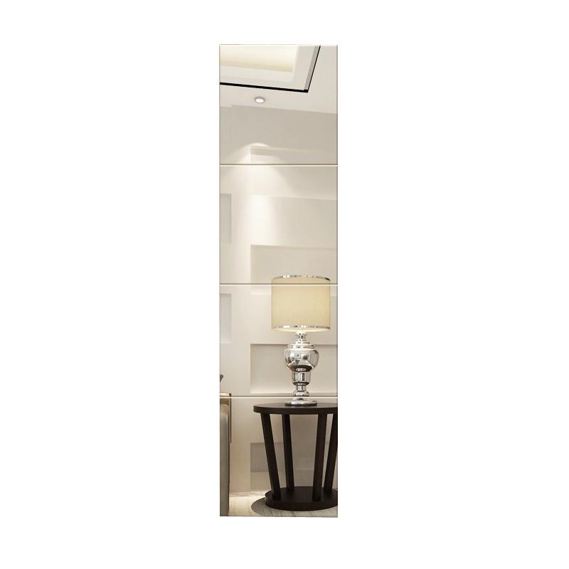 镜子粘贴全身镜壁挂大镜子无框客厅宿舍玄关镜贴墙镜玻璃镜子定制