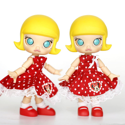 taobao agent Jasmine baby clothes movable version of BJD Little Red Riding Hood can wear red polka dot dress cheap baby clothes