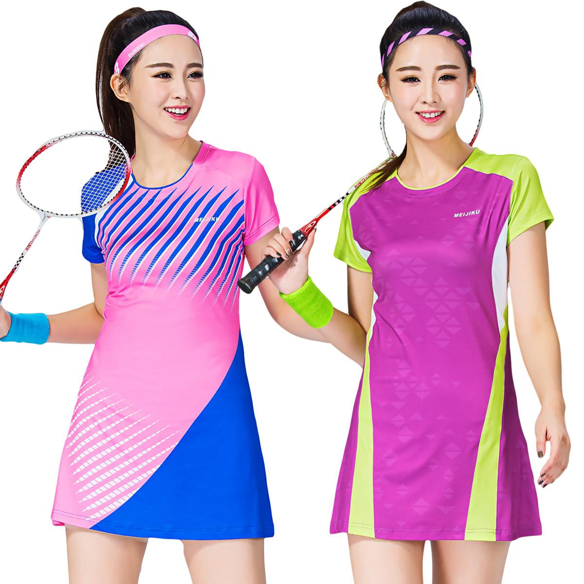 2018 mát thời trang new tennis váy cầu lông mặc của phụ nữ một mảnh váy thể thao thoáng khí hakama dress