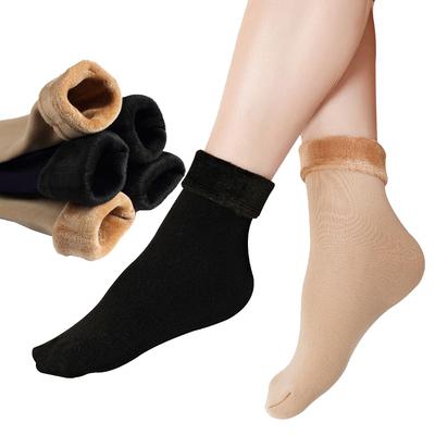 5双雪地袜 加绒加厚高弹抗寒保暖袜地板袜防起球防脚冻冬季
