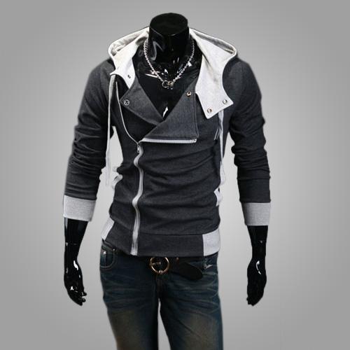 Mất mùa thu người đàn ông Hàn Quốc đội mũ trùm đầu áo len áo khoác mỏng chéo creed Assassin 3 áo len người đàn ông hợp thời trang của chiếc áo đan len