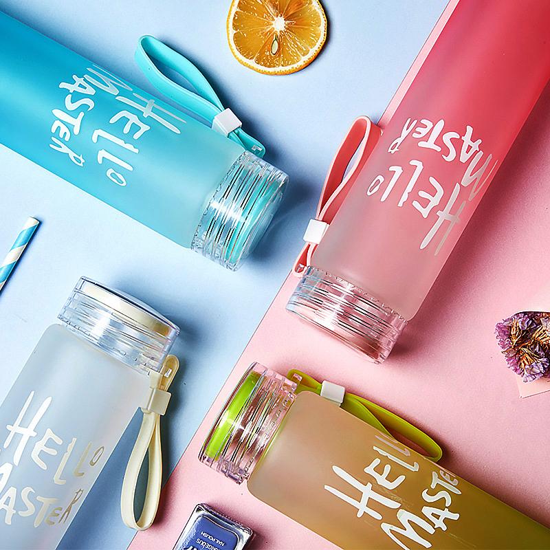 耐热七彩可变色 便携式磨砂玻璃杯