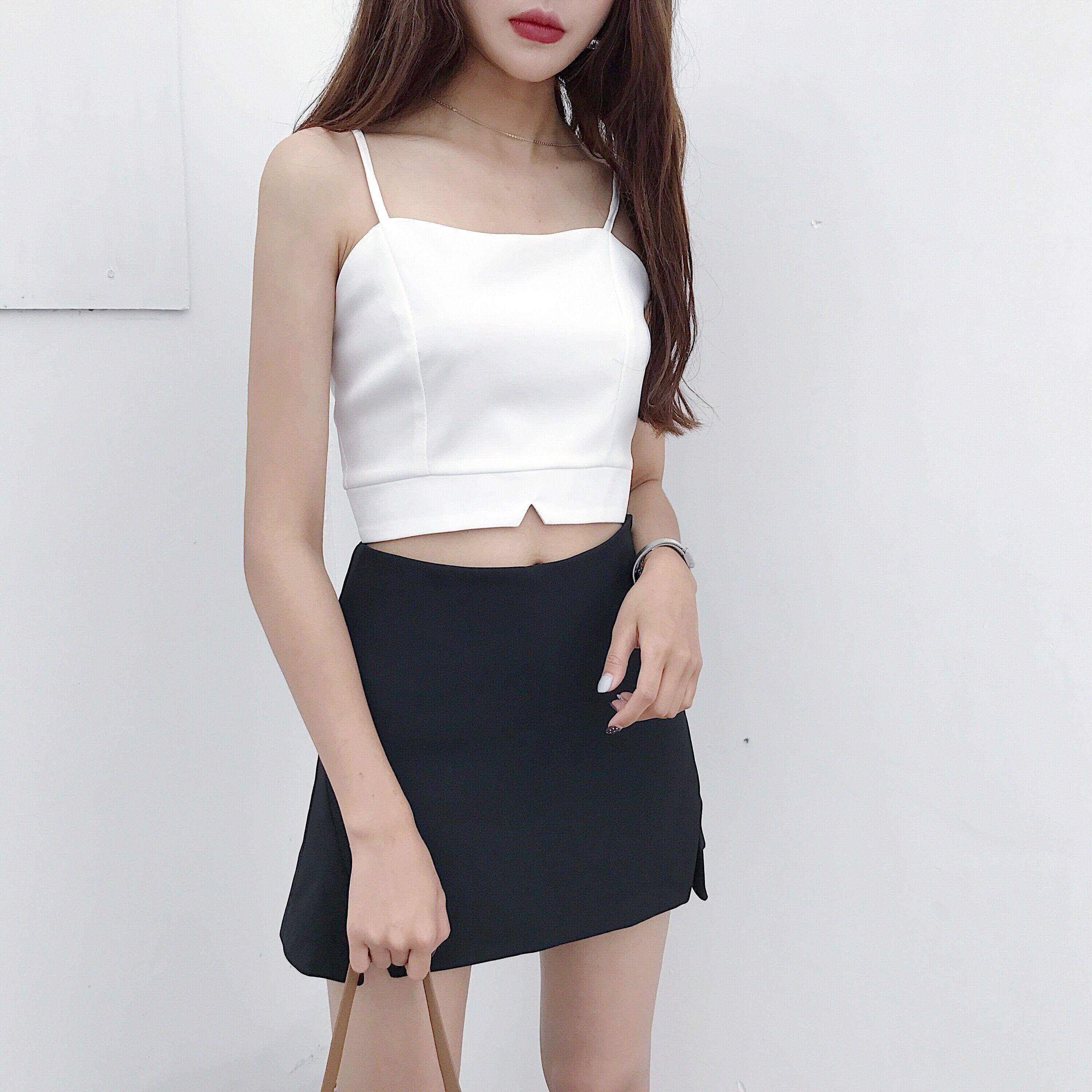 春夏新款时尚性感吊带小背心短款修身显瘦外穿打底衫上衣女装