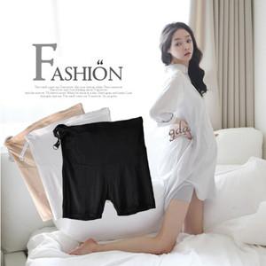 孕妇安全裤 肉色打底裤 孕妇三分裤 托腹调节 牛奶丝